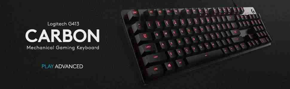 Logitech G413 Carbon Mechanical Keyboard header
