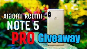Gold Redmi Note 5 Pro Giveaway header