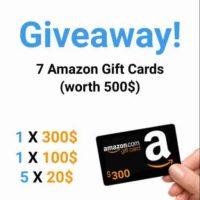 amazon gift card giveaway gleam.io