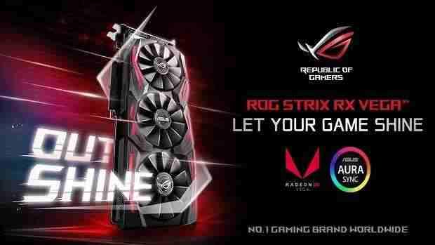 Asus ROG Strix Radeon RX Vega 64 GPU header