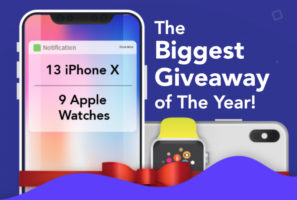 iPhone X and Apple Watch Giveaway header