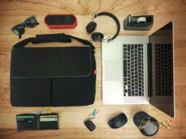 Bluetooth Headphones, Speaker, and Commuter Bag