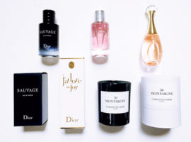 Selection of Dior Fragrances