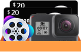 4K Action Camera, VideoProc, and Amazon Gift Cards