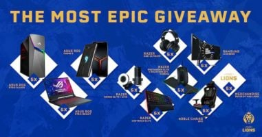 Prizes from Razer, ASUS ROG, Noble Chairs and More