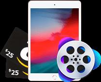 Apple iPad Mini, VideoProc, or $25 Amazon Gift Card