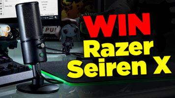 Razer Seiren X USB Microphone Giveaway header