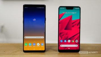 Samsung Galaxy Note 9 and Google Pixel 3 XL