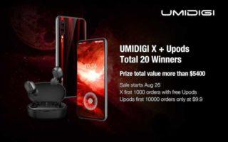 UMIDIGI X and Upods
